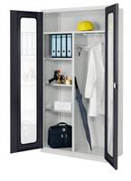 ErgoPlus® Akten--Kleiderschrank mit Sichtfenstertüren H x B x T 1950 x 1000 x 500 mm | günstig bestellen bei assistYourwork