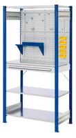 ®RasterPlan Steckregal mit Ausstattung Modell 5 Grundfeld H 2000 x B 1000 x T 500 mm | günstig bestellen bei assistYourwork