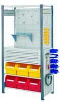 ®RasterPlan Steckregal mit Ausstattung Modell 7 Grundfeld H 2000 x B 1000 x T 500 mm | günstig bestellen bei assistYourwork