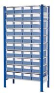 ®RasterPlan Steckregal mit Volumenregalkästen Modell 32, Grundfeld, Regaltiefe 600 mm | günstig bestellen bei assistYourwork