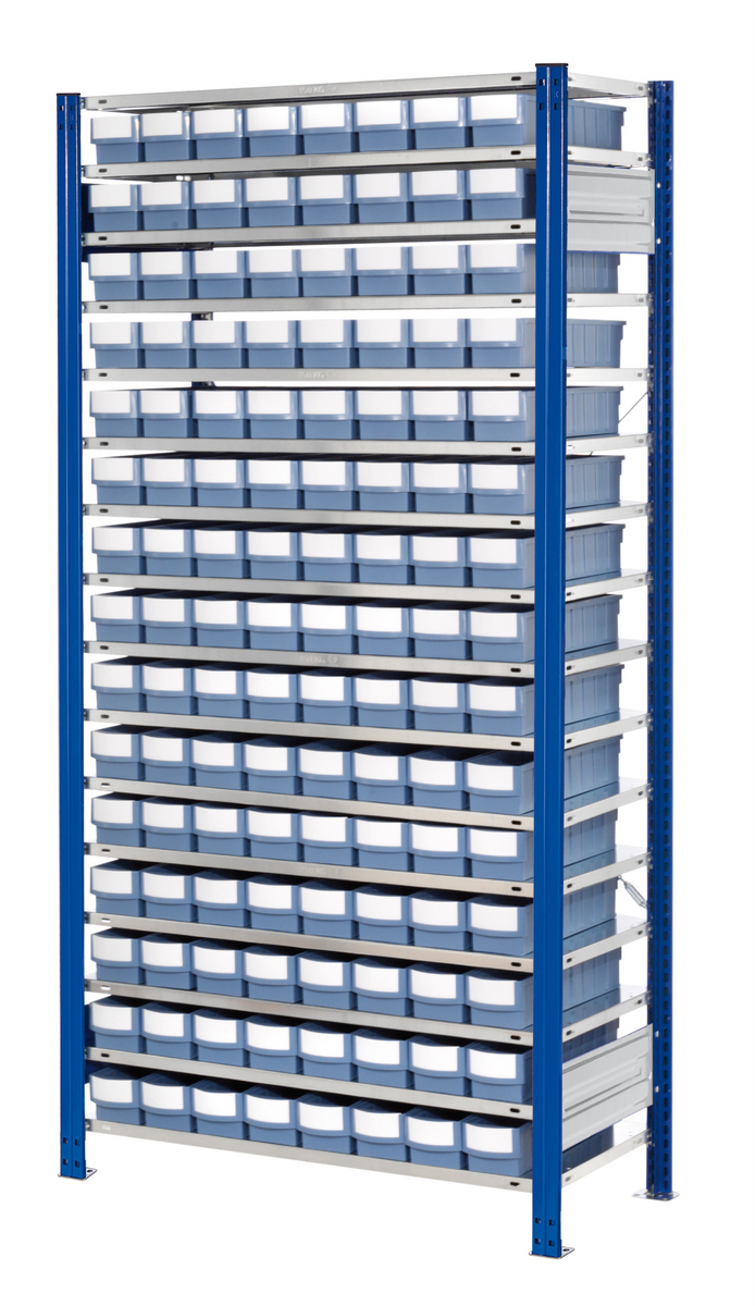 ®RasterPlan Steckregal mit Volumenregalkästen Modell 30, Grundfeld, Regaltiefe 500 mm | günstig bestellen bei assistYourwork