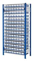 ®RasterPlan Steckregal mit Volumenregalkästen Modell 30, Grundfeld, Regaltiefe 600 mm   günstig bestellen bei assistYourwork