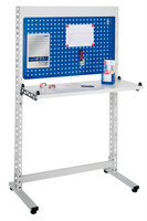 ErgoPlus® Steharbeitsplatz Modell 5, breites Gestell, mit Bodenausgleichsfüßen   günstig bestellen bei assistYourwork