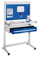 ErgoPlus® Steharbeitsplatz Modell 7, breites Gestell, mit Bodenausgleichsfüßen | günstig bestellen bei assistYourwork