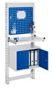 ErgoPlus® Steharbeitsplatz Modell 3, schmales Gestell, Wandmodul | günstig bestellen bei assistYourwork