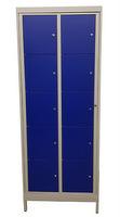 10-Fächerschrank 2 Reihen á 5 Fächer HxBxT: 1820 x 765 x 459 mm   günstig bestellen bei assistYourwork