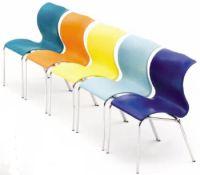 Kunststoff- Schalenstuhl  Gestell verchromt | günstig bestellen bei assistYourwork