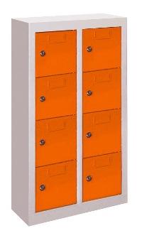 Kleinfachschrank mit 8 Fächern wandhängend, HxBxT: 820x460x200 mm | günstig bestellen bei assistYourwork