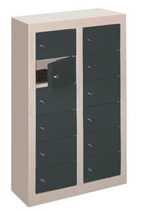 Miniwertfachschrank mit 12 Fächern wandhängend, HxBxT: 820x460x200 mm | günstig bestellen bei assistYourwork