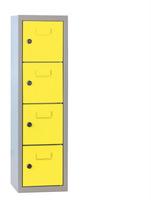 Minifächerschrank 4 Fächer mit Münzpfandschloss HxBxT: 778 x 225 x 200 mm | günstig bestellen bei assistYourwork