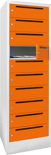breiter Postverteilerschrank 21265-104-441 1850x430x500mm mit 10 Postfächern | günstig bestellen bei assistYourwork