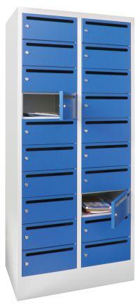 Postverteilerschrank 21265-203-441 1850x630x500mm mit 20 Postfächern | günstig bestellen bei assistYourwork