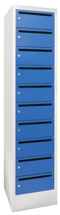 Postverteilerschrank 21265-103-441 1850x500x330mm mit 10 Postfächern | günstig bestellen bei assistYourwork