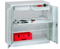 Werkzeugschrank 1000x1000x500mm 2 Schubladen, 2 Auszug- , 2 Fachböden | günstig bestellen bei assistYourwork