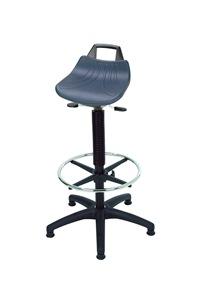 Stehhilfe mit Fußring Sitzfläche aus Hartplastik | günstig bestellen bei assistYourwork