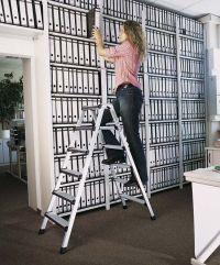 Stufen-Stehleiter 41430, 2 x 11 Stufen, gepolstertete Vorderkanten, Modell Comfortstep B | günstig bestellen bei assistYourwork