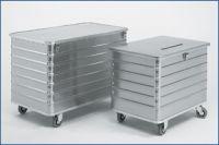 Entsorgungsbehälter 656l fahrbar, ohne Einwurfschlitz | günstig bestellen bei assistYourwork