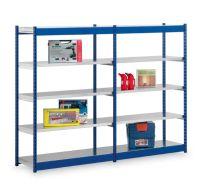 Fachboden Rohrregal RR RFG206010ME Grundregal 2000mmx1025mmx600mm, enzianblau, Böden verzinkt | günstig bestellen bei assistYourwork