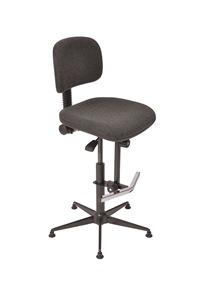 Hoher Arbeitsstuhl Mod. 6172.03 mit Rücken und Sitz Polster anthrazit | günstig bestellen bei assistYourwork