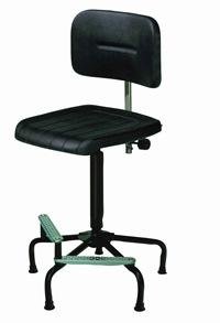 Hoher Arbeitsstuhl Mod. 7510 Sitz und Rücken aus PU (geschäumten Kunststoff) | günstig bestellen bei assistYourwork