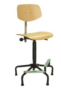 Hoher Arbeitsstuhl Mod. 7510 Sitz und Rücken Buche  | günstig bestellen bei assistYourwork