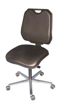 XXL Arbeitsstuhl mit komfortabler Sitz- und Rückenbreite mit Kunstleder | günstig bestellen bei assistYourwork