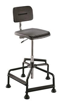Hoher Arbeitsstuhl Mod. 8510.01 Sitz und Rücken PU schwarz | günstig bestellen bei assistYourwork