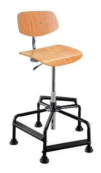 Hoher Arbeitsstuhl Mod. 8510.02 Sitz und Rücken Buche | günstig bestellen bei assistYourwork