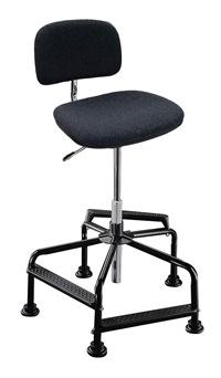 Hoher Arbeitsstuhl Mod. 8510.03 Sitz und Rücken mit Polster anthrazit | günstig bestellen bei assistYourwork