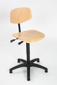Arbeitsstuhl Komfort mit Buche Rücken- und Sitzfläche   günstig bestellen bei assistYourwork