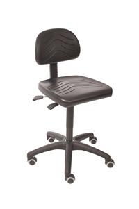 Arbeitsstuhl Komfortserie mit PU-Sitzfläche   günstig bestellen bei assistYourwork