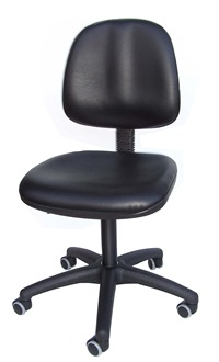 Arbeitsstuhl mit großem Sitz und Rücken in Kunstleder schwarz | günstig bestellen bei assistYourwork