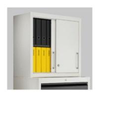 Aufsatz-Schiebetürenschrank BSA 2-4-08 HxBxT 800 x 800 x 420 mm | günstig bestellen bei assistYourwork