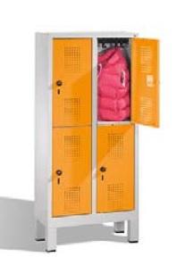 S 3000 EVOLO Kindergartenschließfach 2x2 Fächer, 1350x610x300mm, Füße | günstig bestellen bei assistYourwork