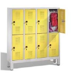 S 3000 EVOLO Kindergartenschließfach 4x2 Fächer, 1350x1190x300mm, Füße | günstig bestellen bei assistYourwork
