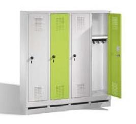S 3000 EVOLO Kindergartenspind 4 Abteile, 1300x1190x300mm, Sockel | günstig bestellen bei assistYourwork