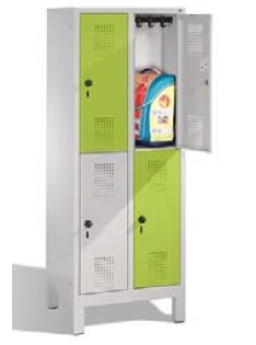 S 3000 EVOLO Grundschulschließfach 2x2 Fächer, 1650x610x500mm, Füße | günstig bestellen bei assistYourwork