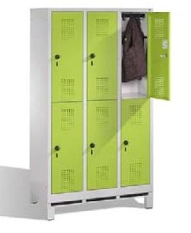 S 3000 EVOLO Schulschließfachschrank 3x2 Fächer, 1650x900x500mm, Füße | günstig bestellen bei assistYourwork