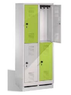 S 3000 EVOLO Grundschul - Schließfach 2x2 Fächer, 1600x610x500mm, Sockel | günstig bestellen bei assistYourwork