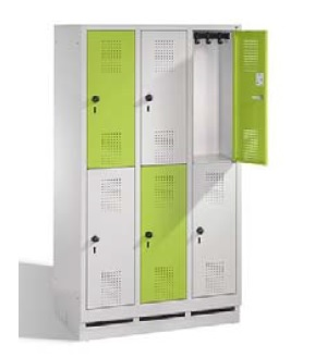 S3000 EVOLO Schul - Schließfachschrank 3x2 Fächer, 1600x900x500mm, Sockel | günstig bestellen bei assistYourwork