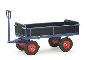 FETRA Handpritschenwagen 6454L, Bordwände, 1200x800mm Tragkraft 1000kg, Luft-Bereifung | günstig bestellen bei assistYourwork