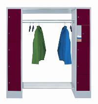 Offene Garderobe mit 2 Schließfachreihen á 5 Fächer, 400mm Abteilbreite | günstig bestellen bei assistYourwork