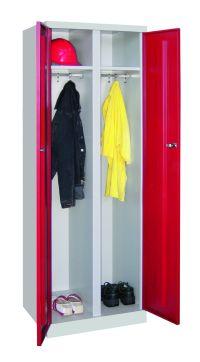 Garderobenschrank 1800x600x500mm mit durchgehender Trennwand | günstig bestellen bei assistYourwork