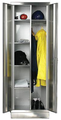 Kleider-Wäscheschrank 1800x600x500mm aus Edelstahl | günstig bestellen bei assistYourwork