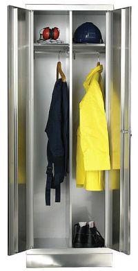 Kleiderschrank 1800x600x500mm aus Edelstahl | günstig bestellen bei assistYourwork
