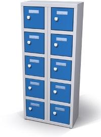 Mini-Wertfachschrank 10 Fächer HxBxT: 900 x 400 x 200 mm | günstig bestellen bei assistYourwork