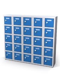 Mini-Wertfachschrank 25 Fächer, Münzpfandschösser HxBxT: 960 x 1000 x 200 mm | günstig bestellen bei assistYourwork