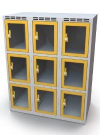 Fächerschrank mit Sichtfenster 9 Fächer HxBxT: 1108 x 1050 x 500 mm | günstig bestellen bei assistYourwork