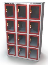 Schließfachschrank mit Sichtfenster 12 Fächer HxBxT: 1457 x 900 x 500 mm   günstig bestellen bei assistYourwork