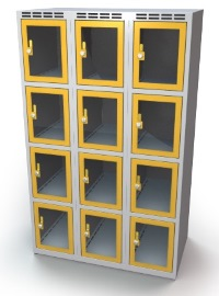 Schließfachschrank mit Sichtfenster 12 Fächer HxBxT: 1457 x 1050 x 500 mm | günstig bestellen bei assistYourwork